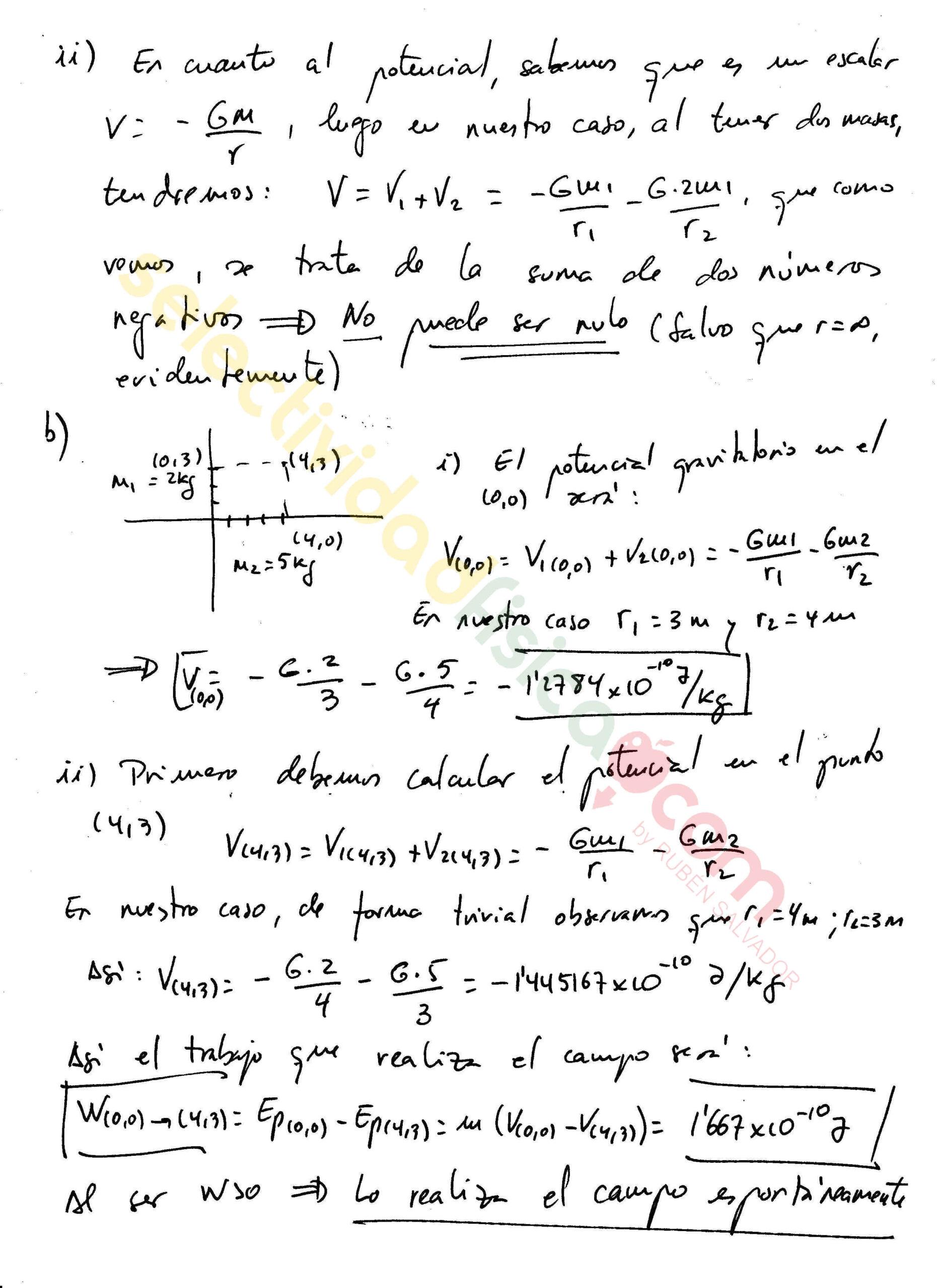 Ejercicio resuelto selectividad física Campo Gravitatorio-G-156