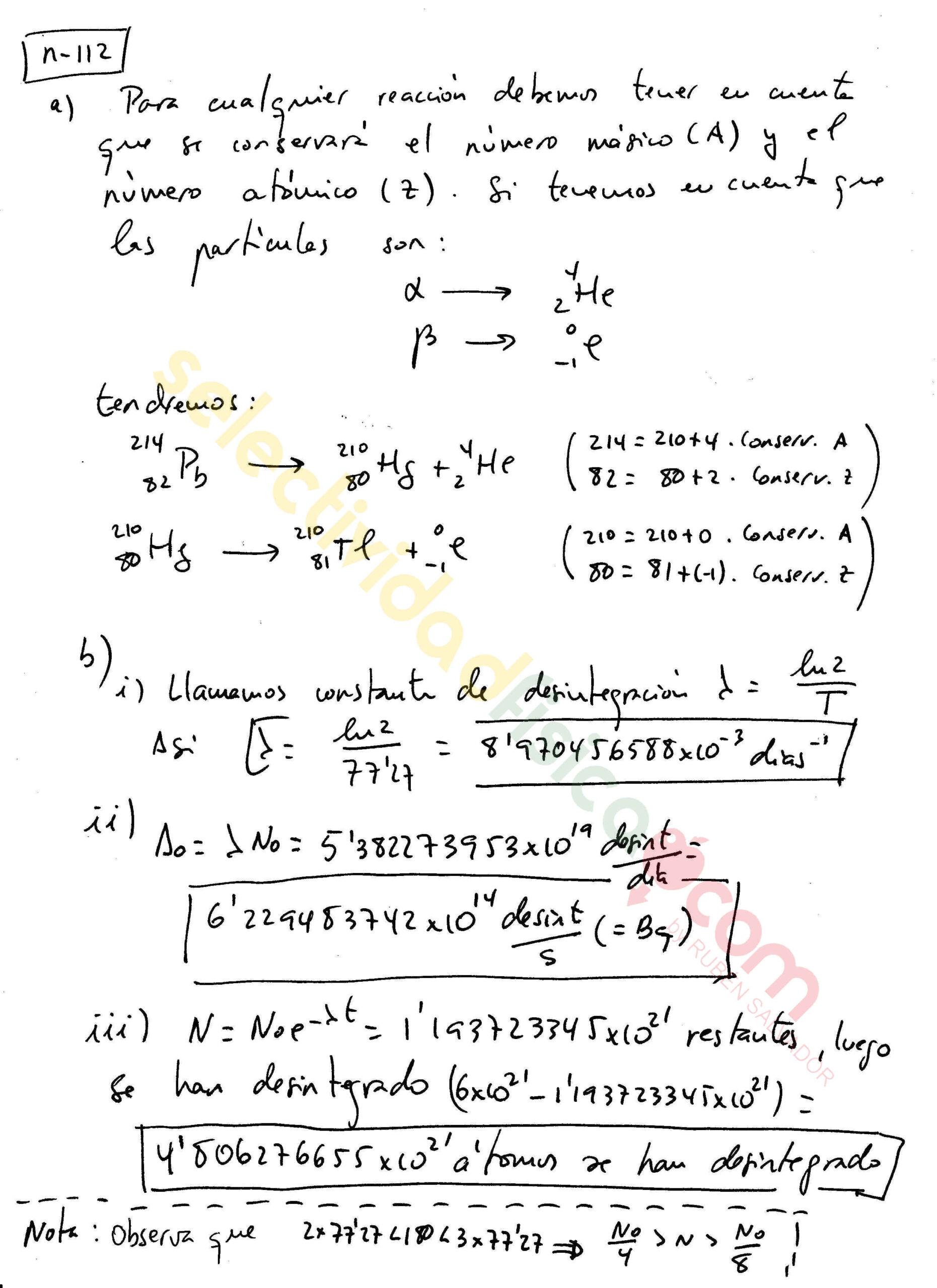 Ejercicio resuelto selectividad física nuclear-N-112